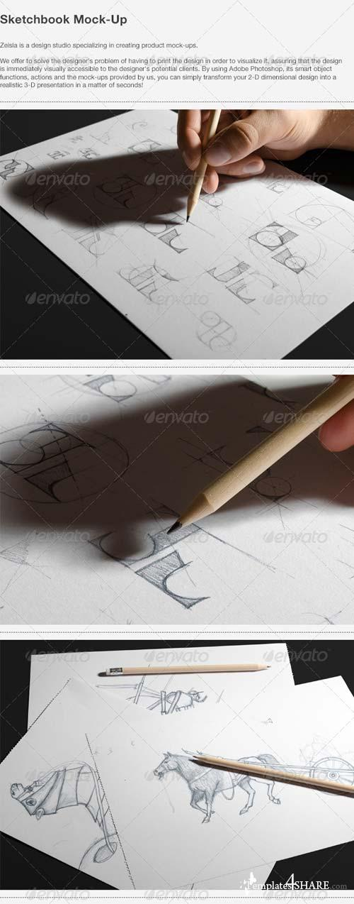 GraphicRiver Sketchbook Mock-Up