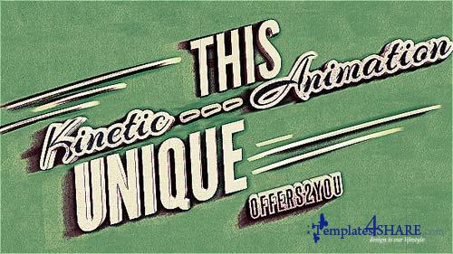 Kinetic Typography, Vintage Retro Style - After Effects Project (Videohive)