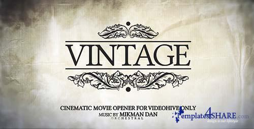 Vintage Opener - After Effects Project (Videohive)