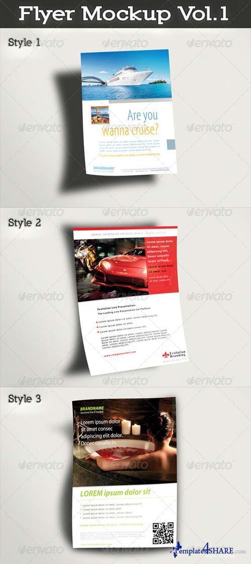 GraphicRiver Flyer Mockup Vol.1