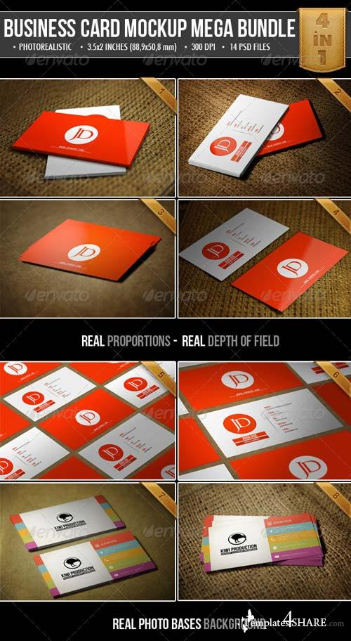 GraphicRiver Realistic Business Card Mock-Up Bundle