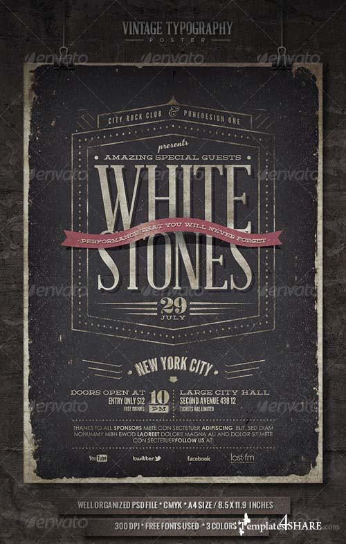 GraphicRiver Vintage Typography Poster - V