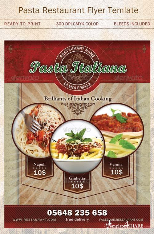 GraphicRiver Pasta Restaurant Flyer Template