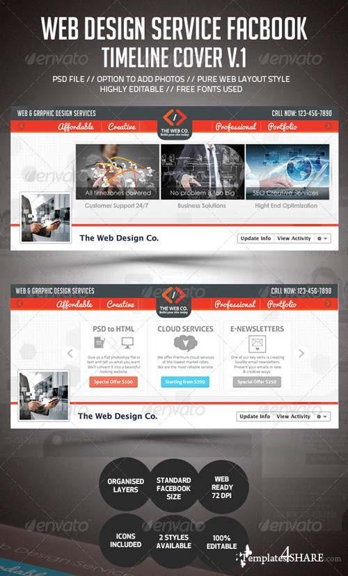 GraphicRiver Web Design Service Facebook Timeline Cover