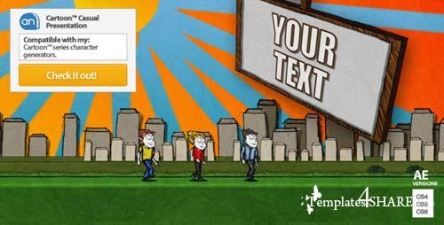 Cartoon Casual Typography Presentation - After Effects Project (Videohive)