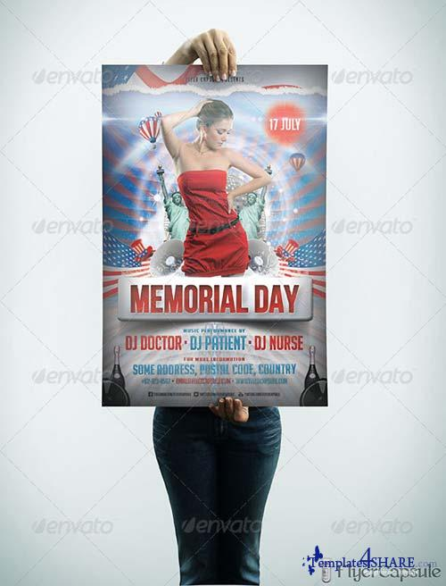 GraphicRiver Memorial Day Flyer Template