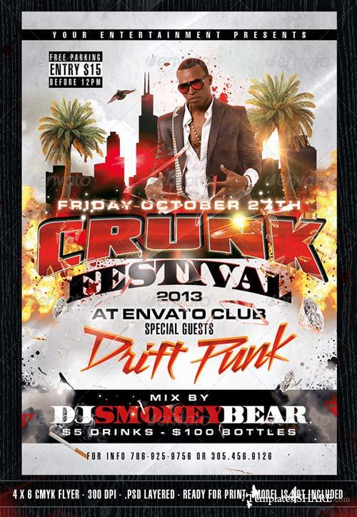 GraphicRiver The Crunk Festival Flyer