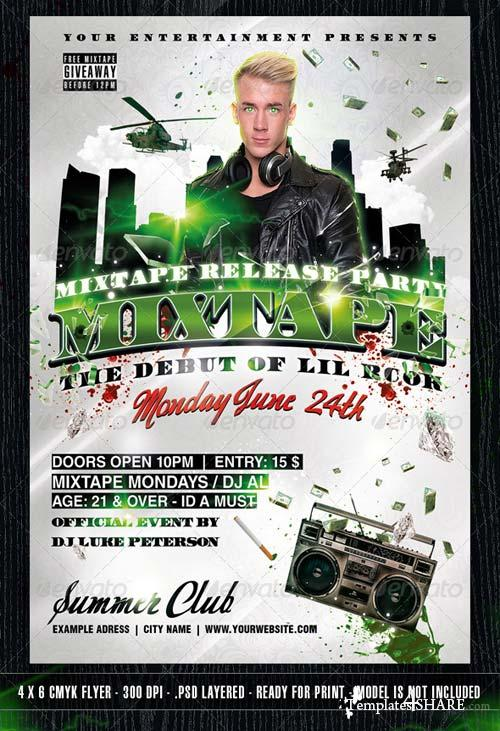 GraphicRiver The Mixtape Release Party Flyer