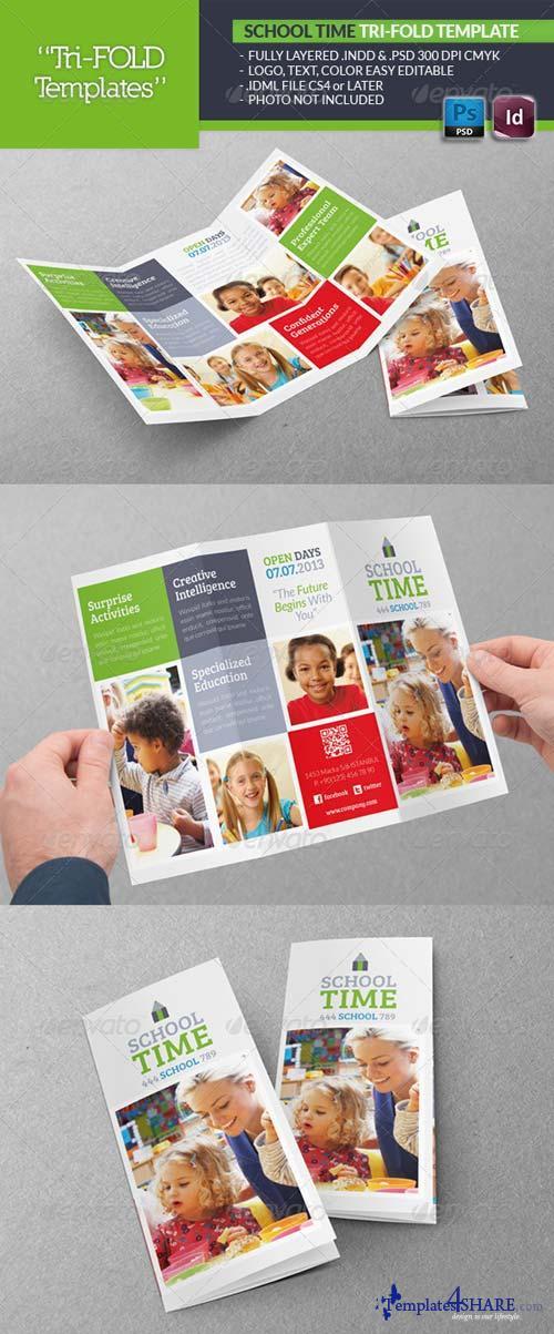 GraphicRiver School Time Tri-Fold Template