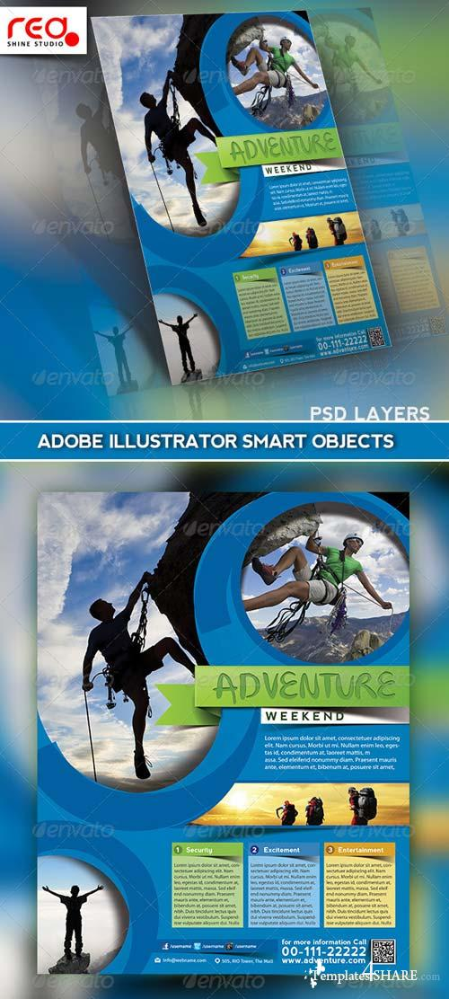 GraphicRiver Adventure World Flyer/Poster & Magazine Template
