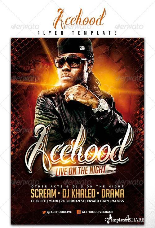 GraphicRiver Acehood Rap Hip Hop flyer