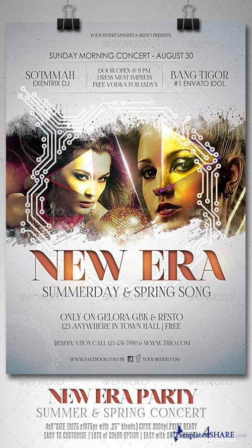 GraphicRiver New Era Music Flyer