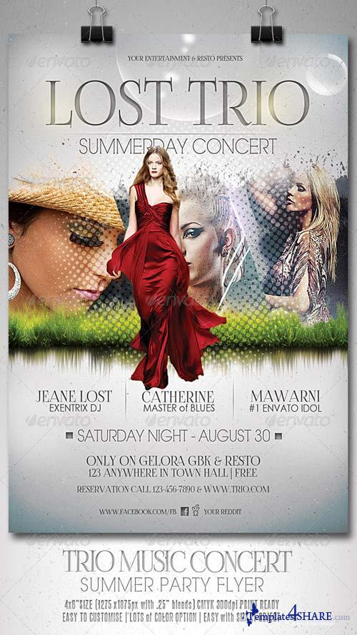 GraphicRiver Trio Music Concert Flyer