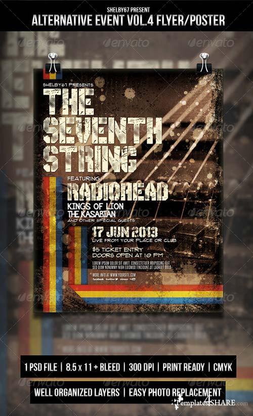 GraphicRiver Alternative Event Flyer / Poster Vol.4