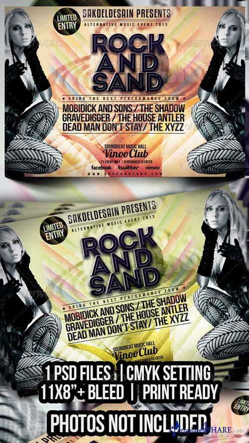 GraphicRiver Rock and Sand Flyer