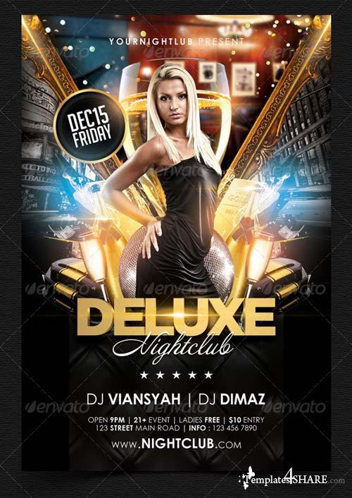 GraphicRiver Deluxe Nightclub Flyer Template