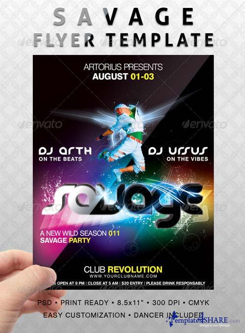 GraphicRiver Savage Flyer Template