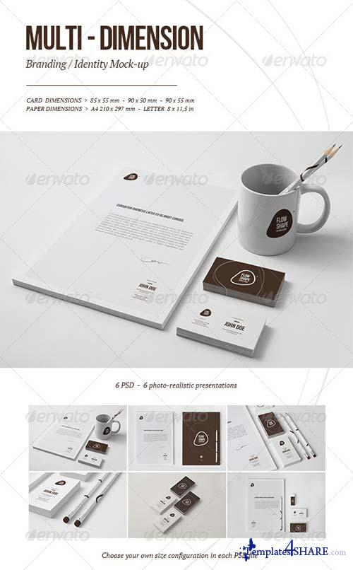 GraphicRiver Multi-dimension Branding / Identity Mock-up IV