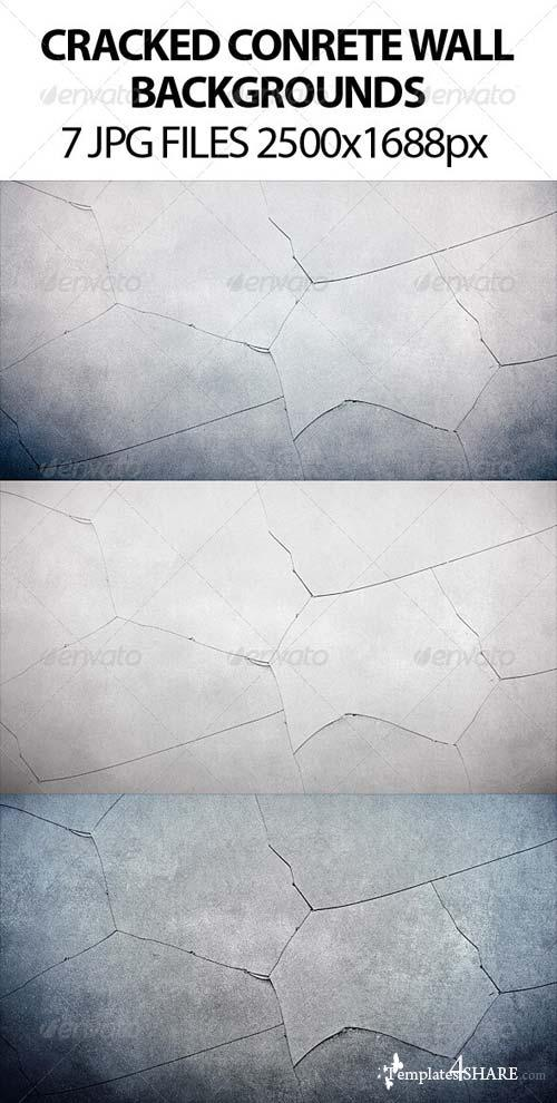 GraphicRiver Cracked Concrete Backgrounds