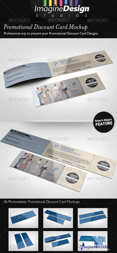 GraphicRiver Promotional Discount Card Mockup