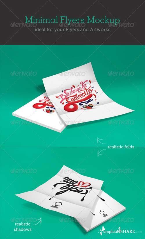 GraphicRiver Minimal Flyer Mockups