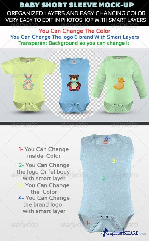 GraphicRiver Baby Short Sleeve Mock-up