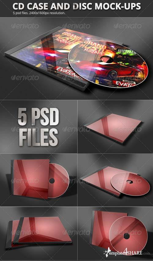 GraphicRiver CD Case & Disc Mock-ups