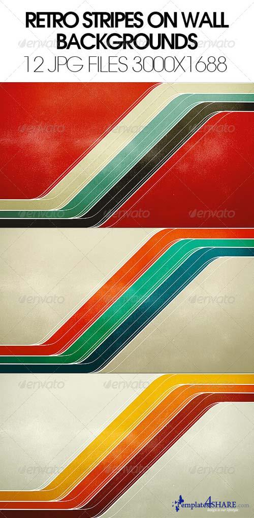 GraphicRiver Retro Stripes Backgrounds