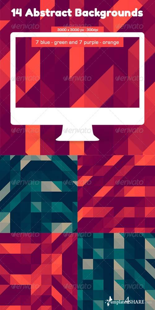 GraphicRiver 14 Triangles Backgrouds