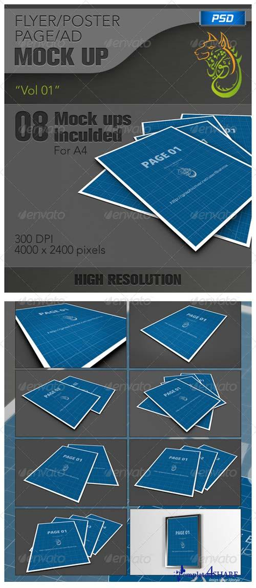 GraphicRiver Flyer Poster Mockups vol 01