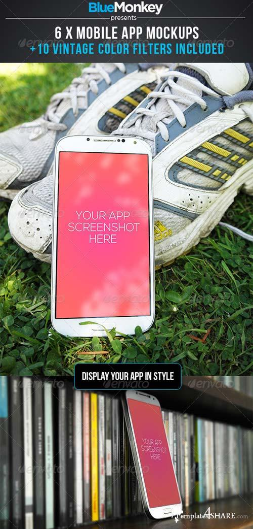 GraphicRiver 6 Phone App Mockups