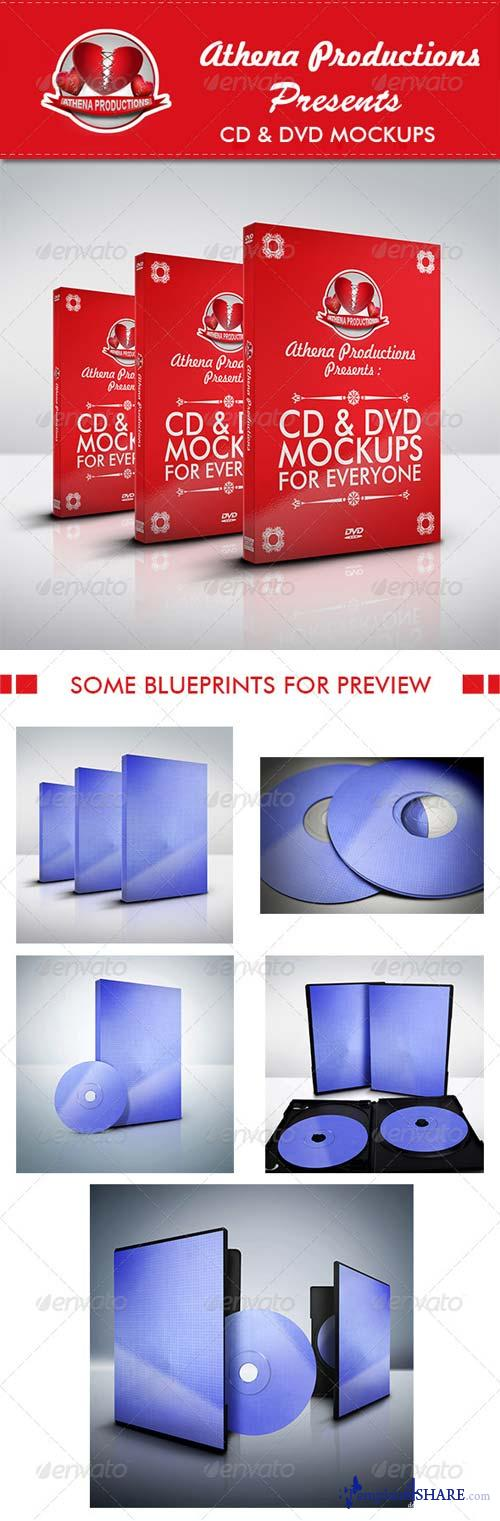 GraphicRiver CD/DVD Mockups V.1