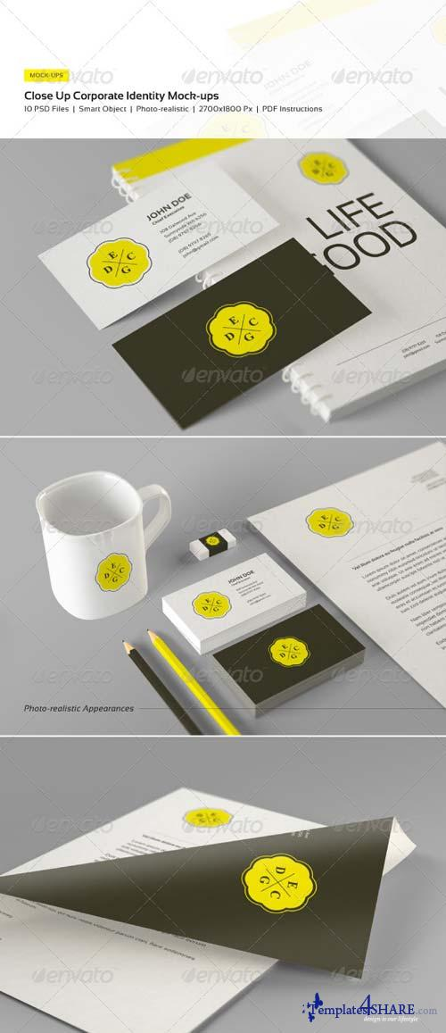 GraphicRiver Close Up Corporate Identity and Branding Mock-Ups