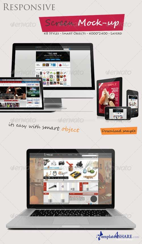 GraphicRiver Responsive Screen Mock-ups