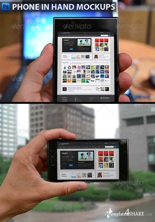 GraphicRiver Black Smartphone in Hand