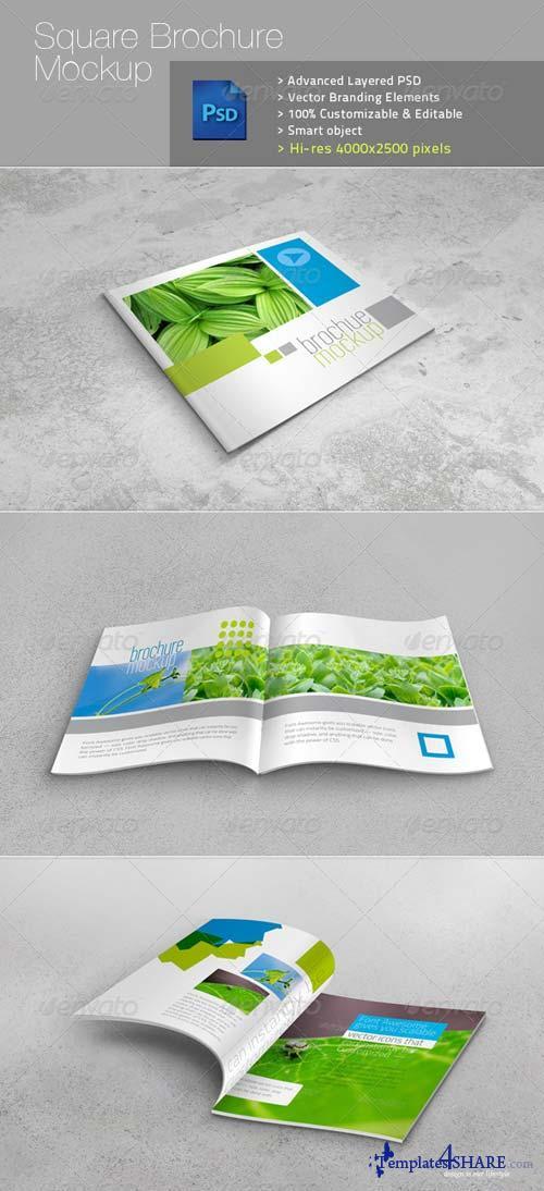 GraphicRiver Square Brochure Realistic Mockup v1