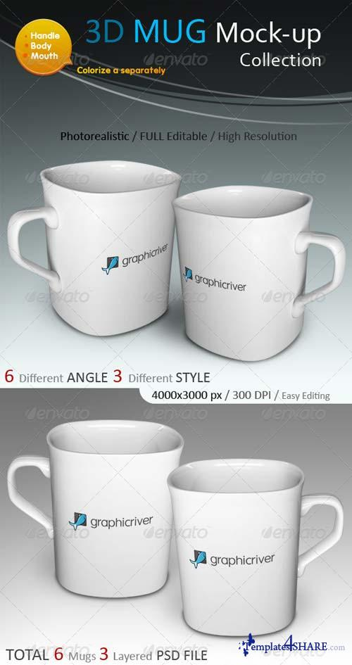 GraphicRiver 3D Photorealistic Mug Mock-ups Collection