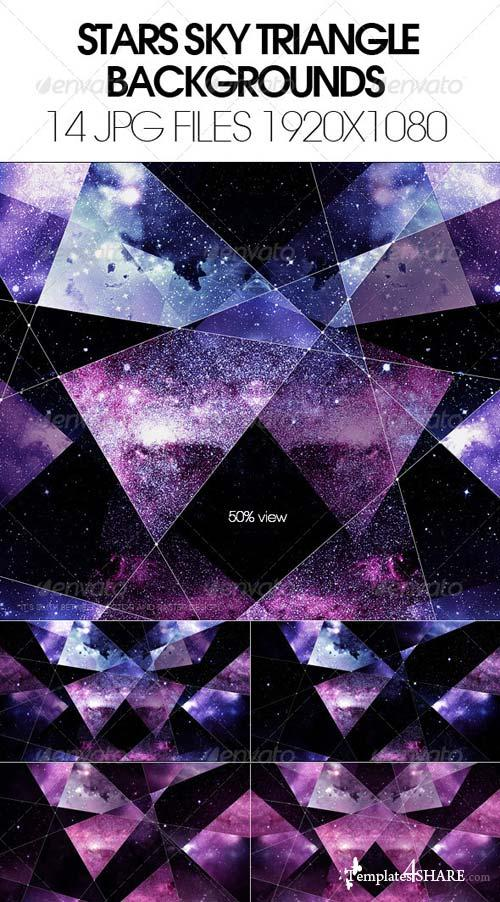 GraphicRiver Stars Sky Traingle Backgrounds