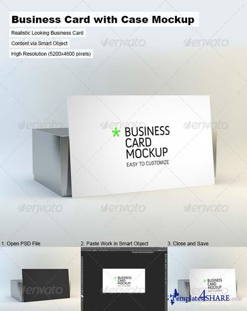 GraphicRiver Business Card with Case Mock-Up