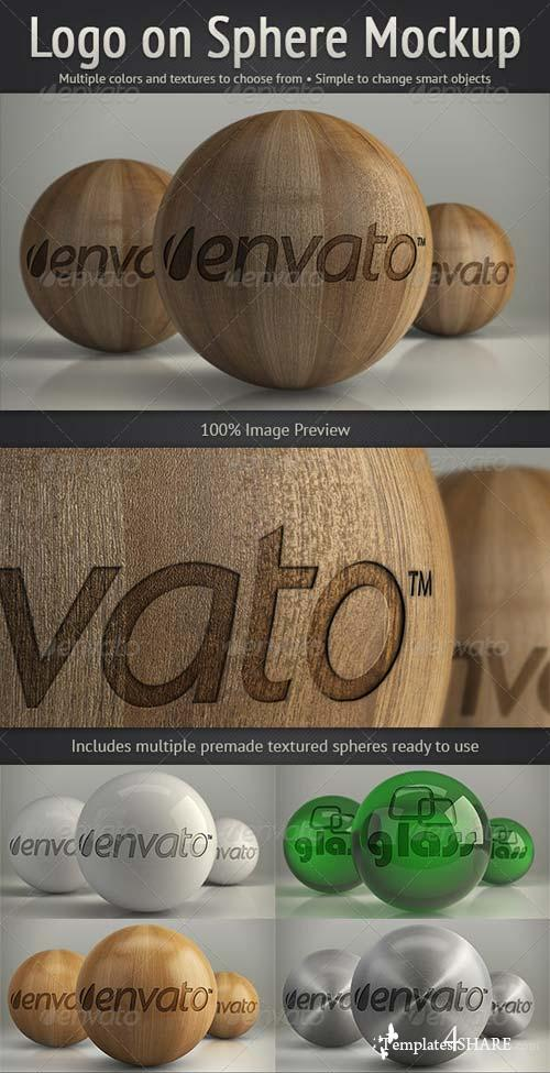 GraphicRiver Logo on Sphere Mockup