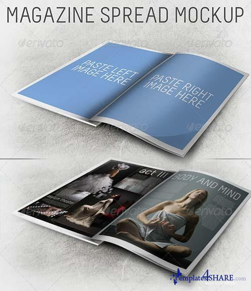 GraphicRiver 3D Magazine Spread Mockup