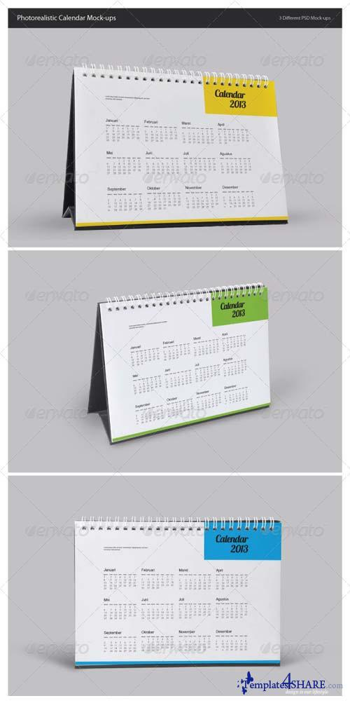 GraphicRiver Photorealistic Calendar Mock-Ups