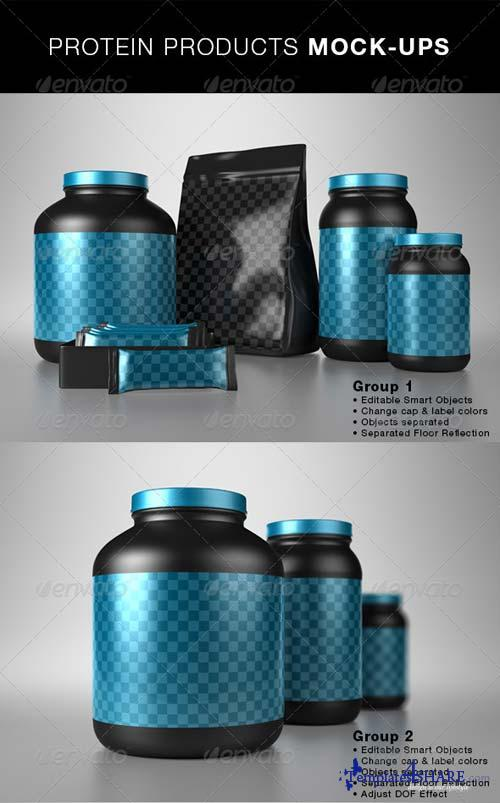 GraphicRiver Protein Products Mock-Ups