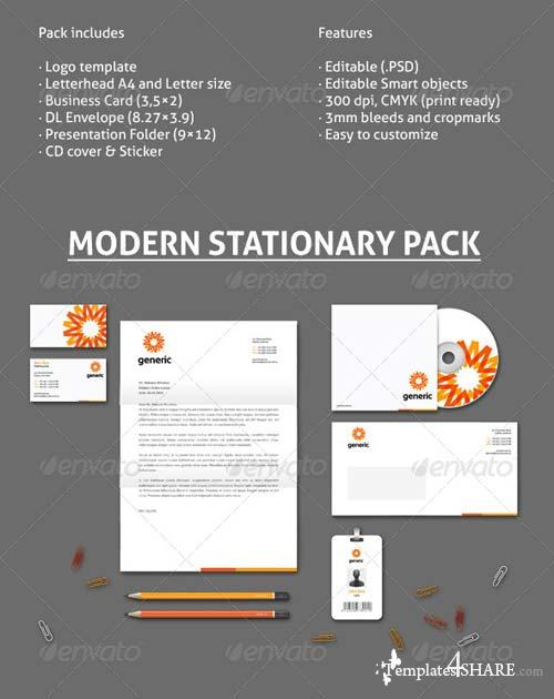 GraphicRiver Stationery Mock-Up