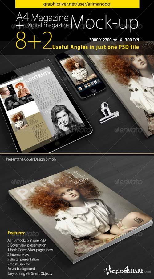 GraphicRiver Magazine Mockup 5007443