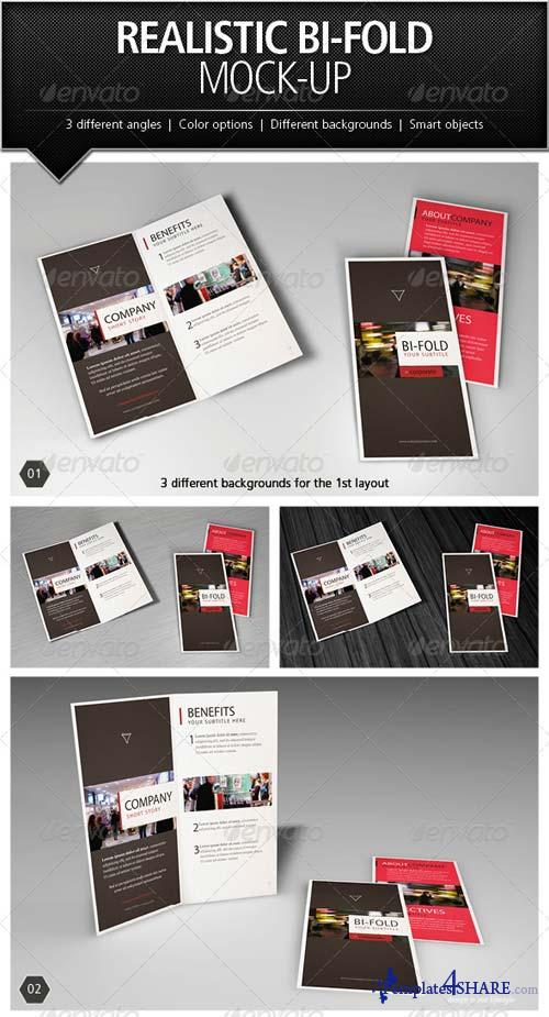 GraphicRiver Realistic Bi-Fold Brochure Mock-Up
