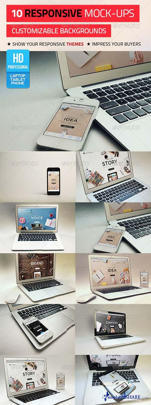 GraphicRiver 10 Responsive Mock-Ups