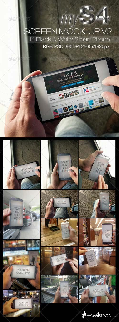 GraphicRiver MyS4 Screen Mock-ups v2