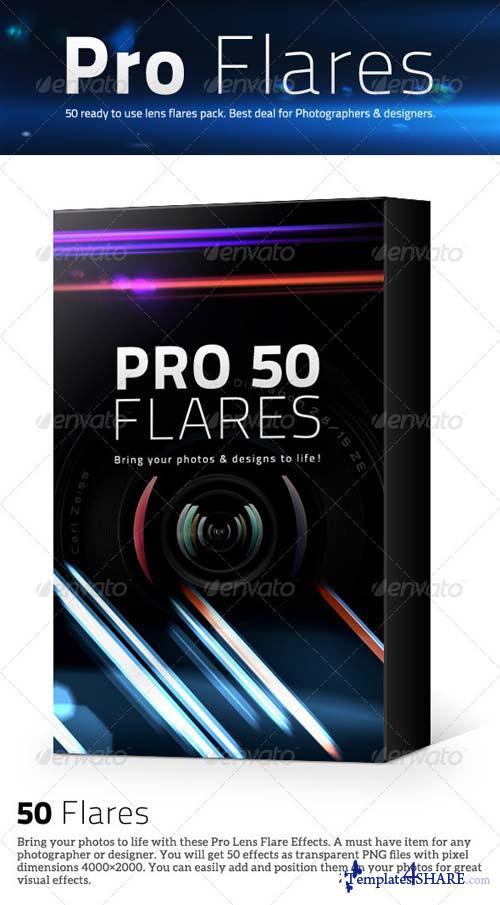 GraphicRiver 50 Pro Lens Flares Pack V1