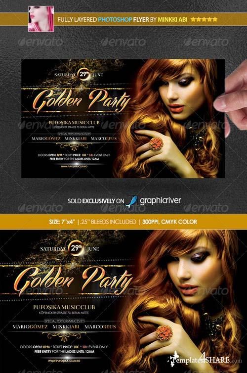 GraphicRiver Golden Party Poster/Flyer